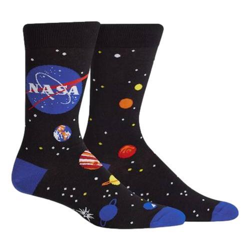 Sock It to Me Men's Solar System Crew Socks Nasa