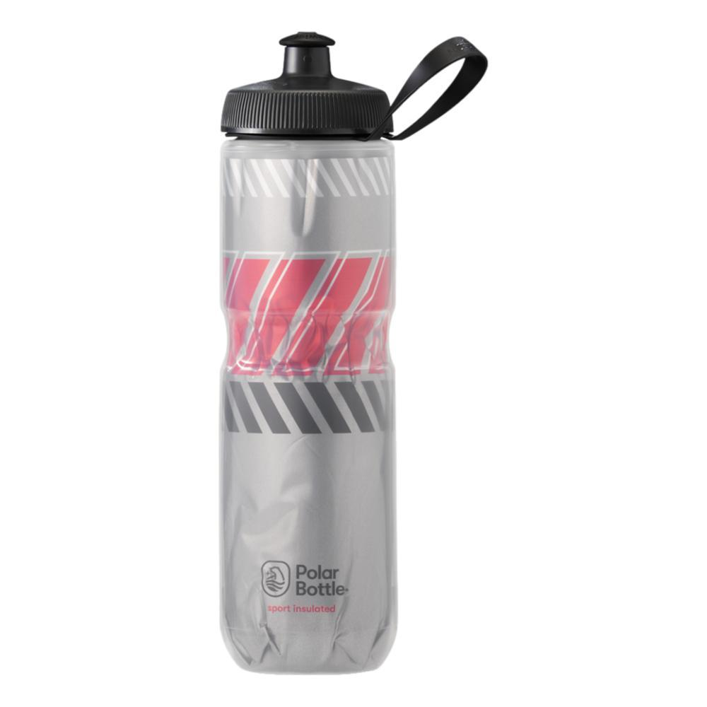 Polar Bottle Sport Insulated 24oz Tempo Water Bottle SILV_RCG_RED