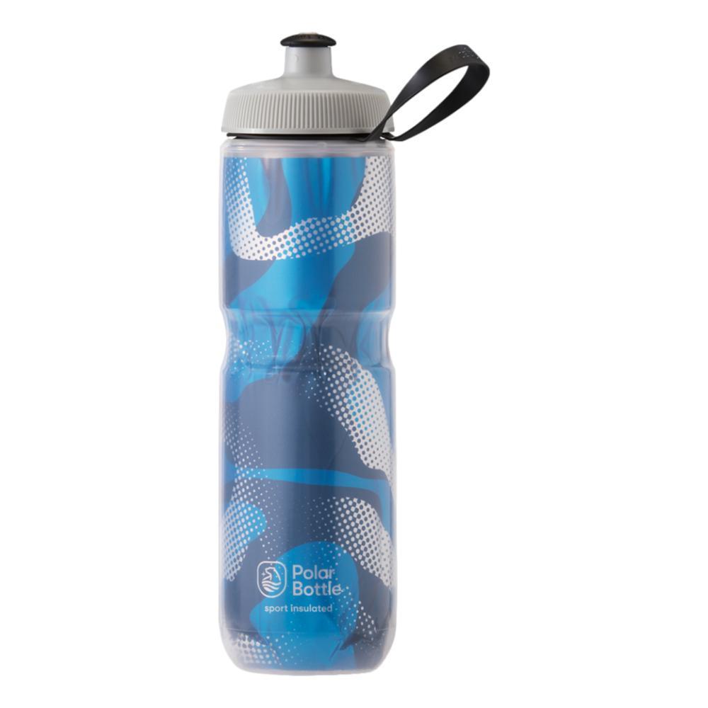 Polar Bottle Sport Insulated 24 oz Contender Water Bottle BLUE_SILVER