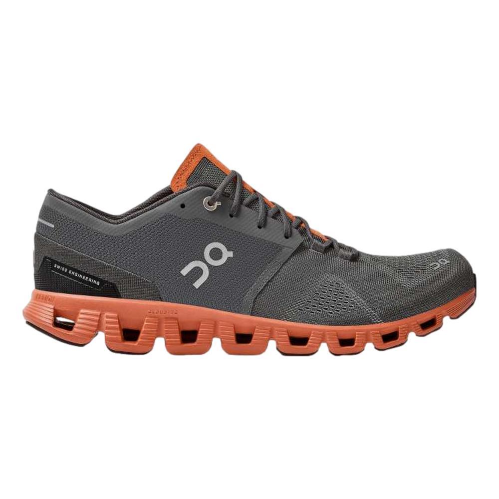 On Men's Cloud X Running Shoes RUST.ROCK