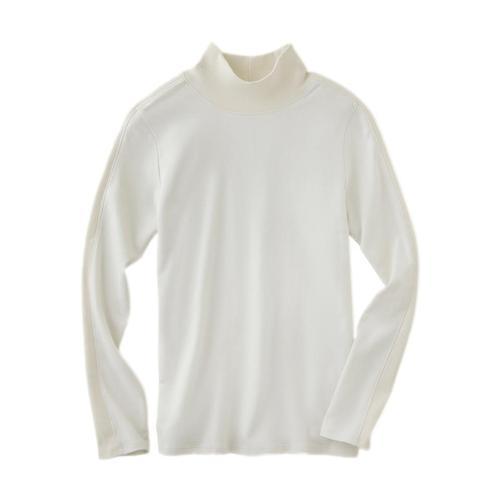 tasc Women's Apres Long Sleeve Turtleneck Shirt Bone_106