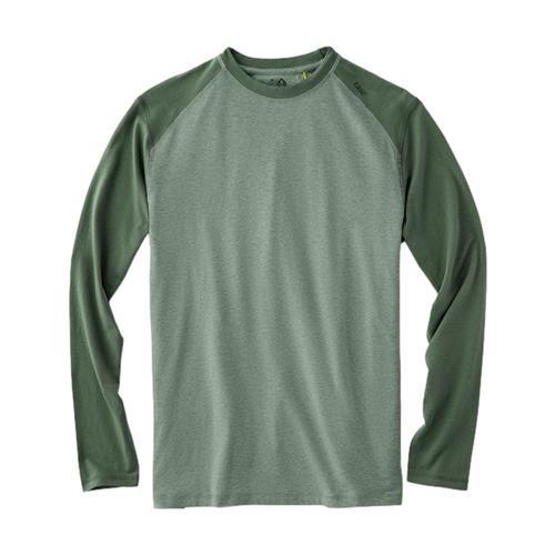 tasc Men's Carrollton Blocked Fitness Long Sleeve T-Shirt Green_309