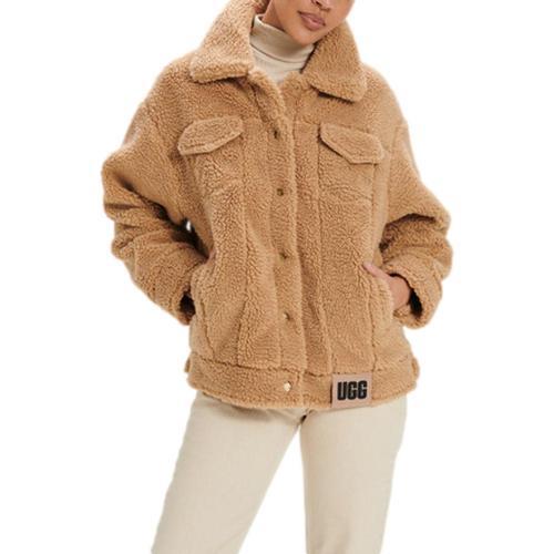 UGG Women's Frankie Sherpa Jacket Camel