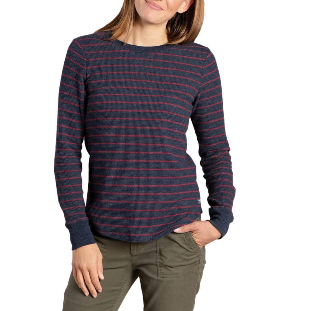Toad&Co Women's Foothill Long Sleeve Crew Shirt NAVYFO_416