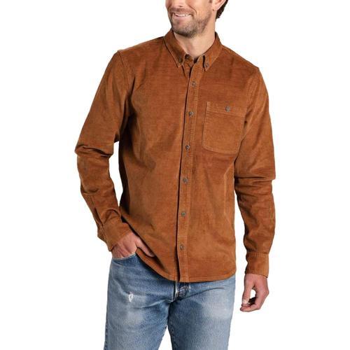 Toad & Co Men's Karuna Cord Long Sleeve Shirt Brown_239