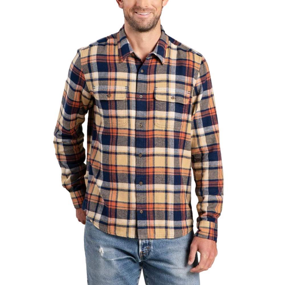 Toad&Co Men's Indigo Flannel Long Sleeve Slim Shirt FOG_253