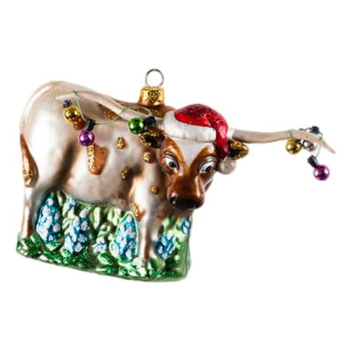 180 Degrees Longhorn Glass Ornament Longhorn