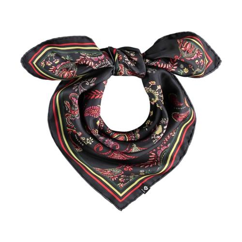 V. Fraas Uptown Paisley Queenie Silk Printed Oversized Square Scarf Black_990