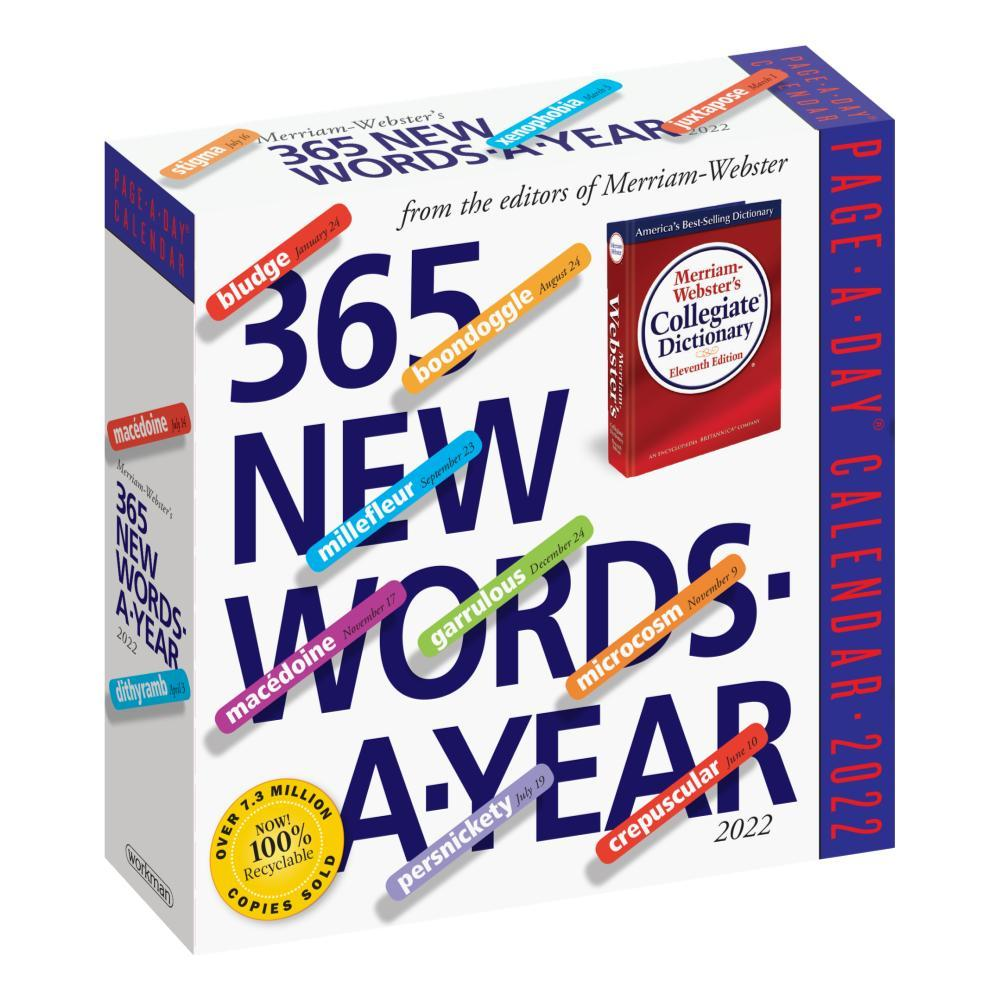 365 New Words-A-Year Page-A-Day Calendar 2022 2022