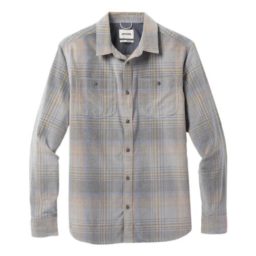 prAna Men's Dooley Long Sleeved Shirt Gravel