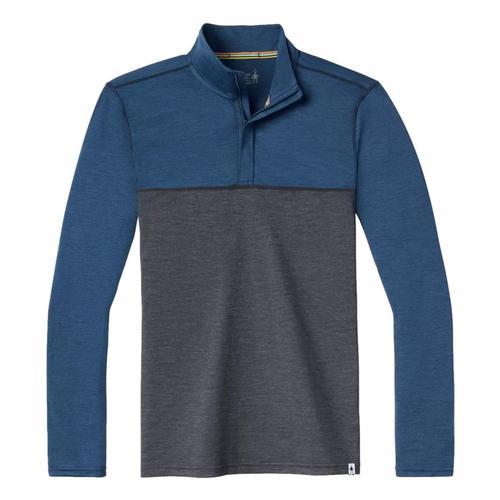 Smartwool Men's Merino Sport 150 Colorblock 1/4 Zip Pullover Denim_h36